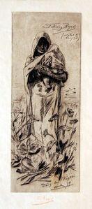 Félicien Rops, 'Dans la Posta', 1879