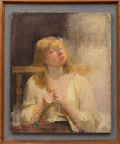 Girl Combing Her Hair (The Artist's Wife)