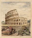 Veduta di Roma con abbacchio e carciofi