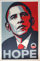 Shepard Fairey (OBEY), 'HOPE (Obama)', 2008