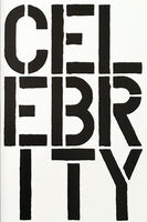 Christopher Wool, 'Celebrity - page from the Black Book', 1989