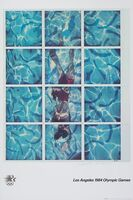 David Hockney, 'LA Olympics Poster', 1984