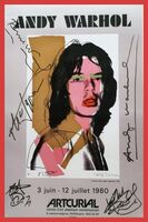 Andy Warhol, 'Mick Jagger (Hand Signed by Andy Warhol, Mick Jagger and all of the Rolling Stones)', 1980