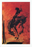 Richard Hambleton, 'Horse & Rider - Red', 2018