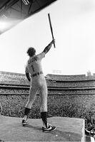 Terry O'Neill, 'Elton John at the Dodgers Stadium 1975', 1975