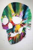 Damien Hirst, 'Skull Spin Painting - SIGNED', 2007