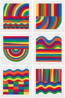 Sol LeWitt, 'Arcs and Bands in Colors A - F', 1999