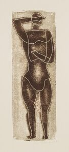 Otto Neumann, 'Small Standing Figure (Brown-Gregy)', 1954