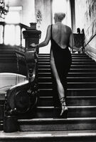 Helmut Newton, 'Rosalyn at Arcangue (Stair) ', 1975