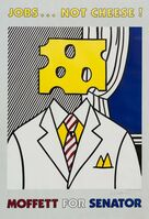 Roy Lichtenstein, 'Jobs... Not Cheese!', 1982