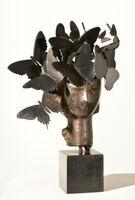 Manolo Valdés, 'Cabeza con tocado de mariposas', 2013