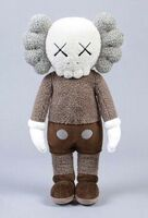 KAWS, 'HOLIDAY HONG KONG PLUSH (BROWN)', 2019