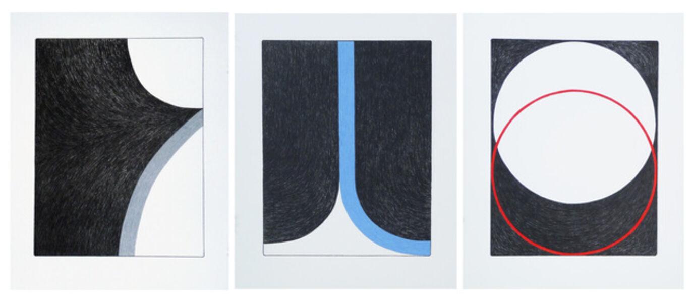 Ulrike Müller, 'Print (Franza) - Grey, Print (Franza) - Blue, Print (Weather)', 2014