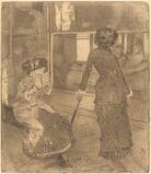 Mary Cassatt at the Louvre: The Etruscan Gallery (Au Louvre: Musée des antiques)