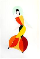 """Sonia Delaunay, 'Original Pochoir """"27 Living Paintings XIX"""" by Sonia Delaunay', 1969"""