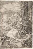 Albrecht Dürer, 'Madonna With the Pear', 1511