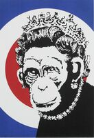 Banksy, 'Monkey Queen', 2003