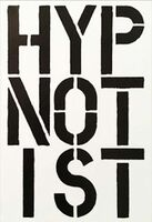 Christopher Wool, 'Hypnotist - page from the Black Book', 1989