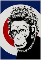 Banksy, 'Monkey Queen (Unsigned)', 2003
