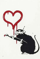 Banksy, 'Love Rat', 2004
