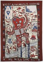 Grayson Perry, 'Vote Alan Measles for God', 2008