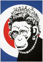 Banksy, 'Monkey Queen (Signed)', 2003
