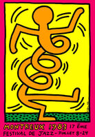 Keith Haring, 'Montreux Jazz Festival (pink)', 1983