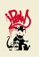 Banksy, 'Gangsta Rat (Red)', 2004