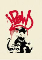 Banksy, 'Gangsta Rat (Red)', 2004