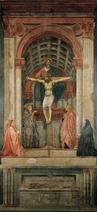 Masaccio, 'Trinity with the Virgin, Saint John the Evangelist, and Donors', ca. 1425-27/28