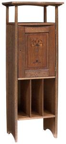 Harvey Ellis, 'Arts and Crafts Inlaid Oak Music Cabinet', circa 1903