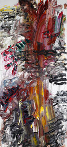 Chen Ping, 'Ink Mountains, Winded Victoria, Girl on Tiger', 2020