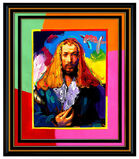 PETER MAX Acrylic Painting ORIGINAL of Artist ALBRECHT DURER Signed POP ART oil
