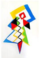 "Sonia Delaunay, 'Original Pochoir ""27 Living Paintings II"" by Sonia Delaunay', 1969"