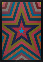 Sol LeWitt, 'Five pointed star with color bands', 1992