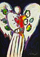Peter Max, 'Angel with Heart on Black', 1996