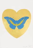 Damien Hirst, 'I Love You - Gold Leaf/Turquoise/Oriental Gold', 2015