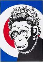 Banksy, 'Monkey Queen', 2004