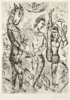 Marc Chagall, 'Le Pierrot', 1968