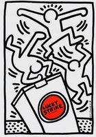Keith Haring, 'Keith Haring Lucky Strike (announcement card)', 1987