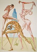 Salvador Dalí, 'The Dwellers of Prato, Inferno 26, The Divine Comedy', 1960