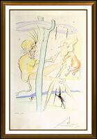 Salvador Dalí, 'Salvador Dali Drypoint Pochoir Etching Hand Signed Monkey And The Elephant Art', 1974