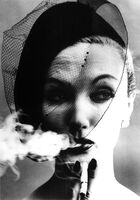 William Klein, 'Smoke + Veil, Paris (Vogue)', 1958