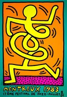 Keith Haring, 'Montreux Jazz Festival (green)', 1983