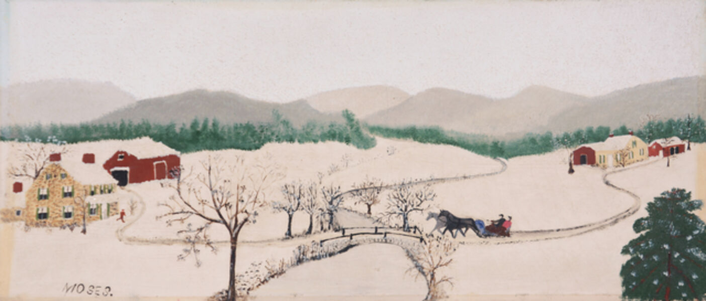 Grandma Moses, 'Over the River to Grandma's House on Thanksgiving', 1942