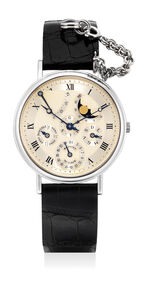 Breguet, 'A fine and attractive white gold perpetual calendar wristwatch with moon phases, leap year indication and power reserve', Circa 1995