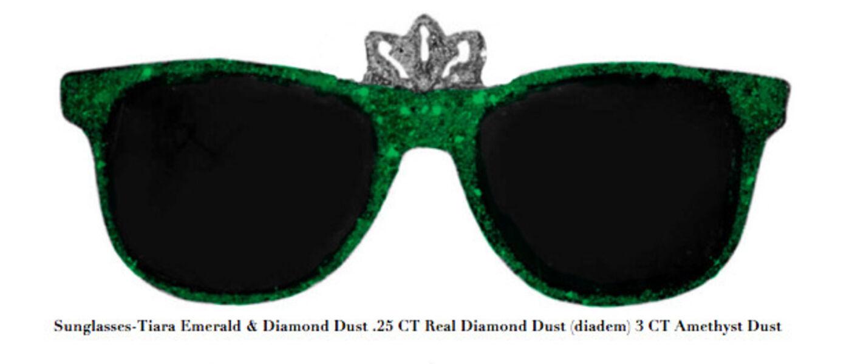 Stacy Engman, 'Sunglasses-Tiara Emerald & Diamond Dust .25 CT Real Diamond Dust (diadem) 3 CT Emerald Dust', 2019