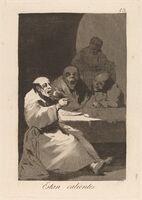 Francisco de Goya, 'Los caprichos: Estan Calientes', published 1799