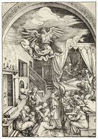 Albrecht Dürer, 'THE BIRTH OF THE VIRGIN', ca. 1503-04