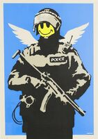 Banksy, 'Flying Copper - Signed', 2003